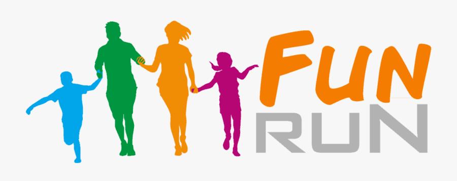 Transparent Children Running Clipart - Family Fun Run Logo, Transparent Clipart
