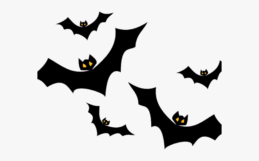 Bats Clipart Five Free For Download On Rpelm Graphic - Halloween Bats Png, Transparent Clipart