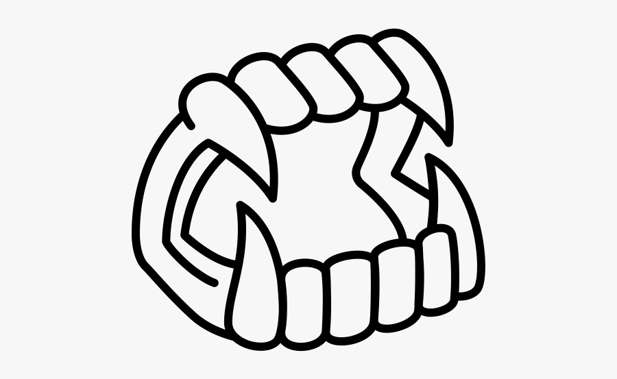 """  Class=""lazyload Lazyload Mirage Cloudzoom Featured - Vampire Teeth Line Art, Transparent Clipart"