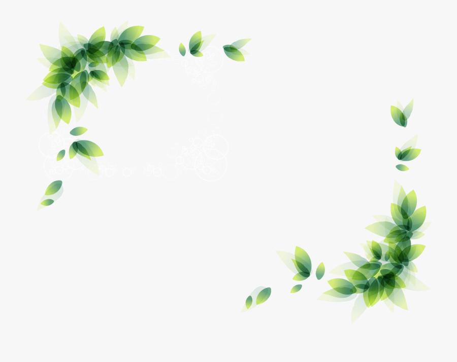 Clip Art Green Leaves Border Transprent Png Ⓒ - Corner Floral Border Transparent, Transparent Clipart