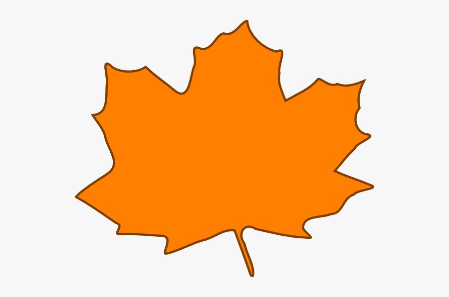 Orange Fall Leaf Clipart, Transparent Clipart