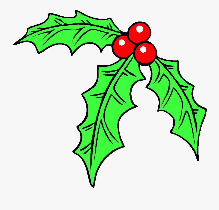 Holly Leaf Christmas Clip Art Borders Clipart Library - Vischio Disegno Per Bambini, Transparent Clipart