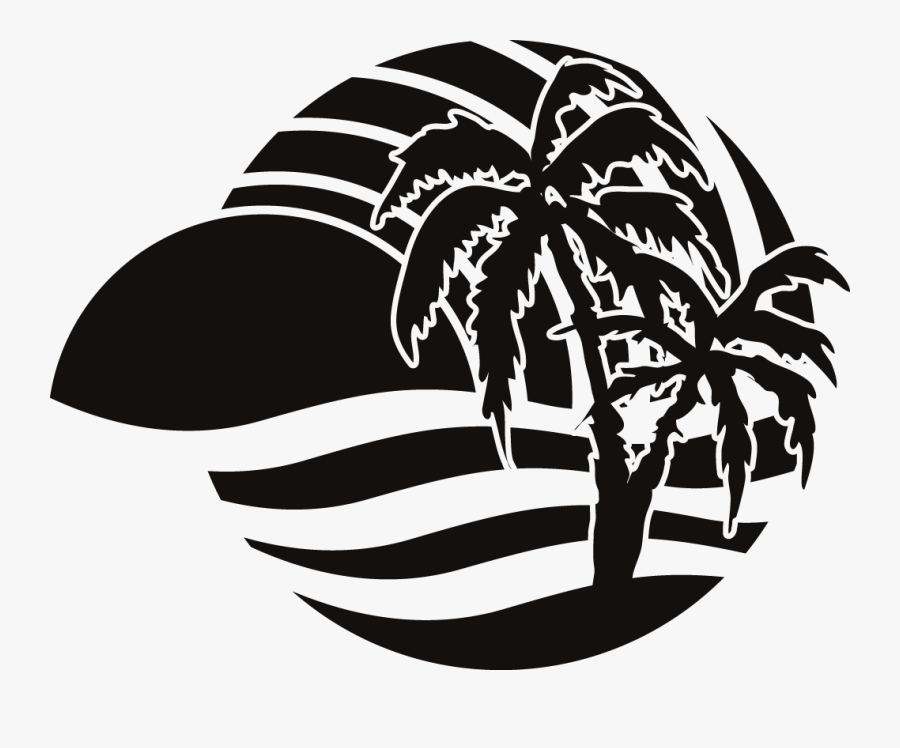 Party Beach Silhouette Labels Png Silhouette Beach Vector Beach Logo Png Free Transparent Clipart Clipartkey