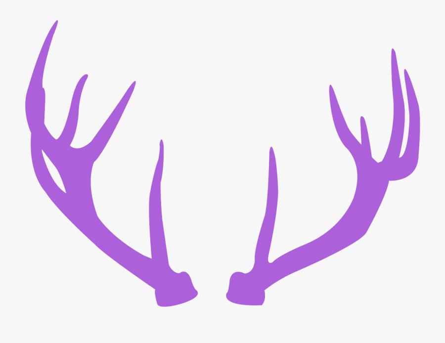 Deer Antlers Pink Clipart, Transparent Clipart