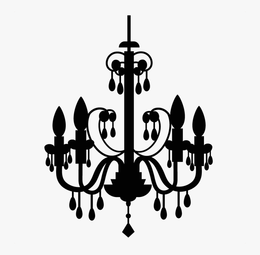 Chandelier Silhouette Clip Art Free - Clipart Chandelier Png, Transparent Clipart