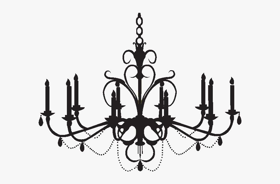 Chandelier Wall Decal Silhouette Clip Art - Chandelier Clip Art Png, Transparent Clipart