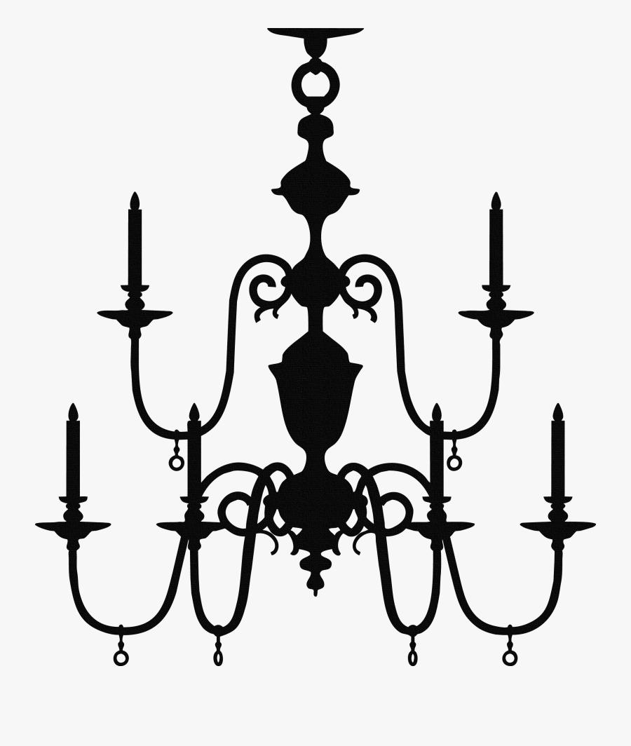 Transparent Chandelier Vector Png - Chandelier Silhouette, Transparent Clipart