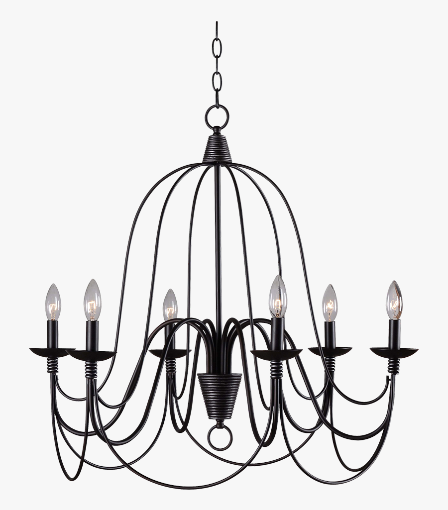 Kenroy Home Pannier 6 Light Chandelier Clipart , Png - 6 Light Candle Iron Chandelier, Transparent Clipart