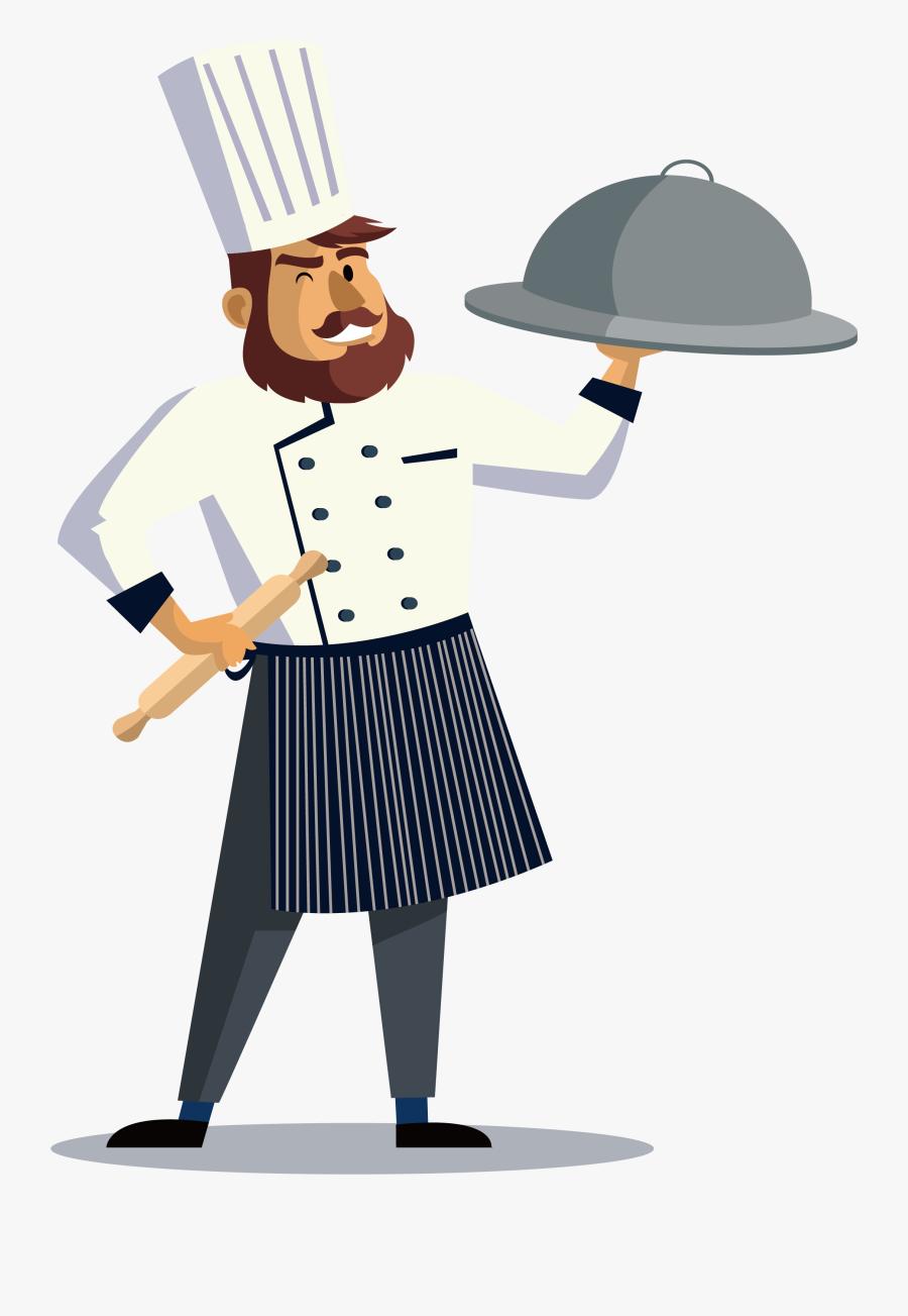 Cook Transprent Png Free - Cook Cartoon Png, Transparent Clipart
