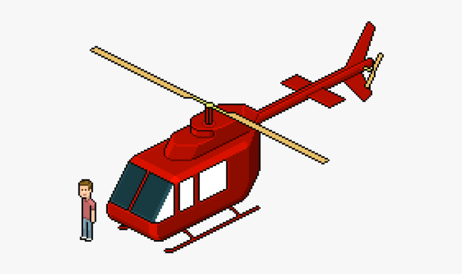 Drawn Helicopter Line Art - Helicopter Pixel Art Png, Transparent Clipart