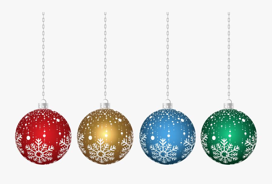 Hanging Christmas Ornaments Transparent, Transparent Clipart