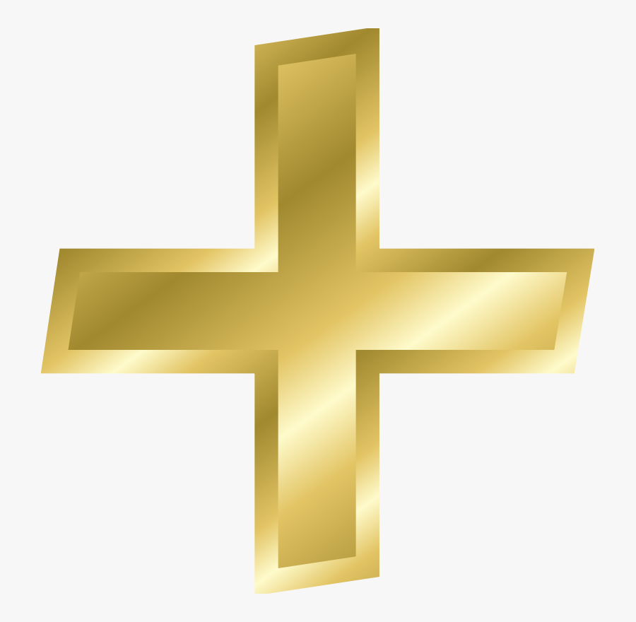 Symbol,cross,plus And Minus Signs - Plus And Minus Signs, Transparent Clipart