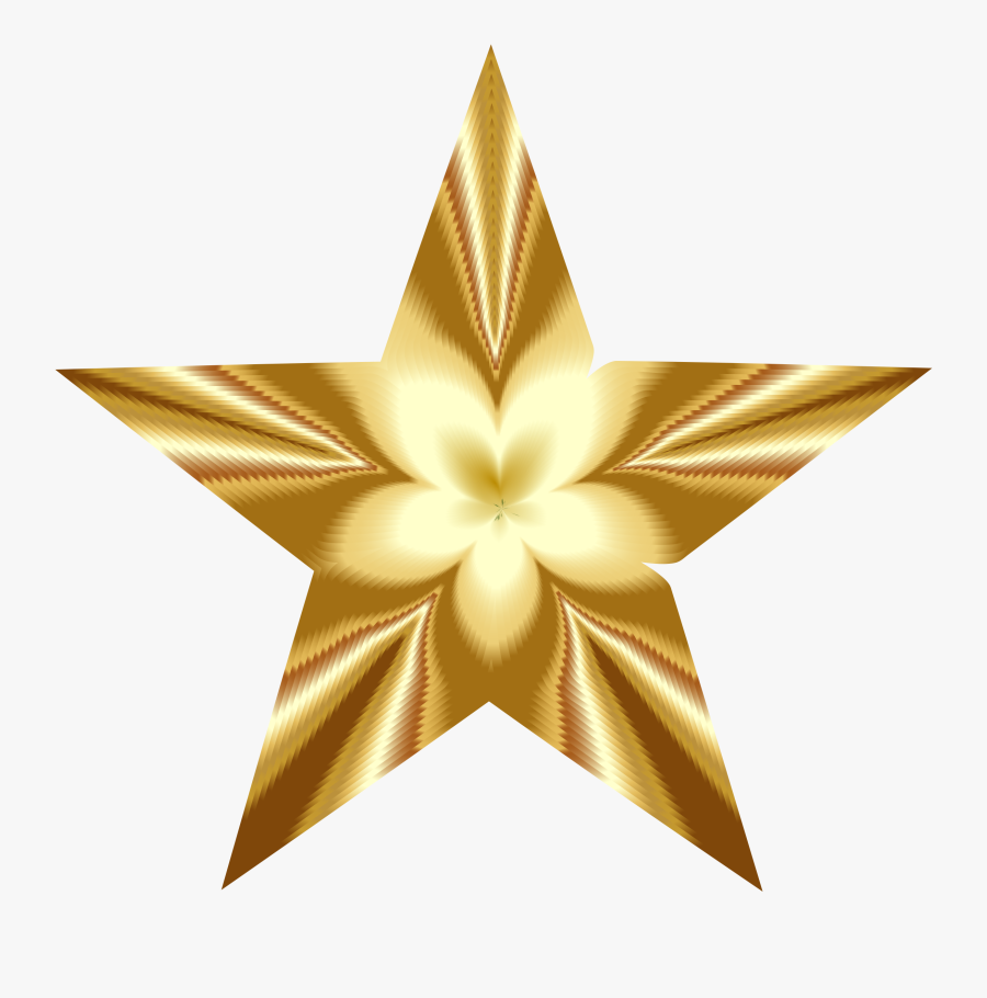 Gold,star,symmetry - Golden Star Pictures Png, Transparent Clipart