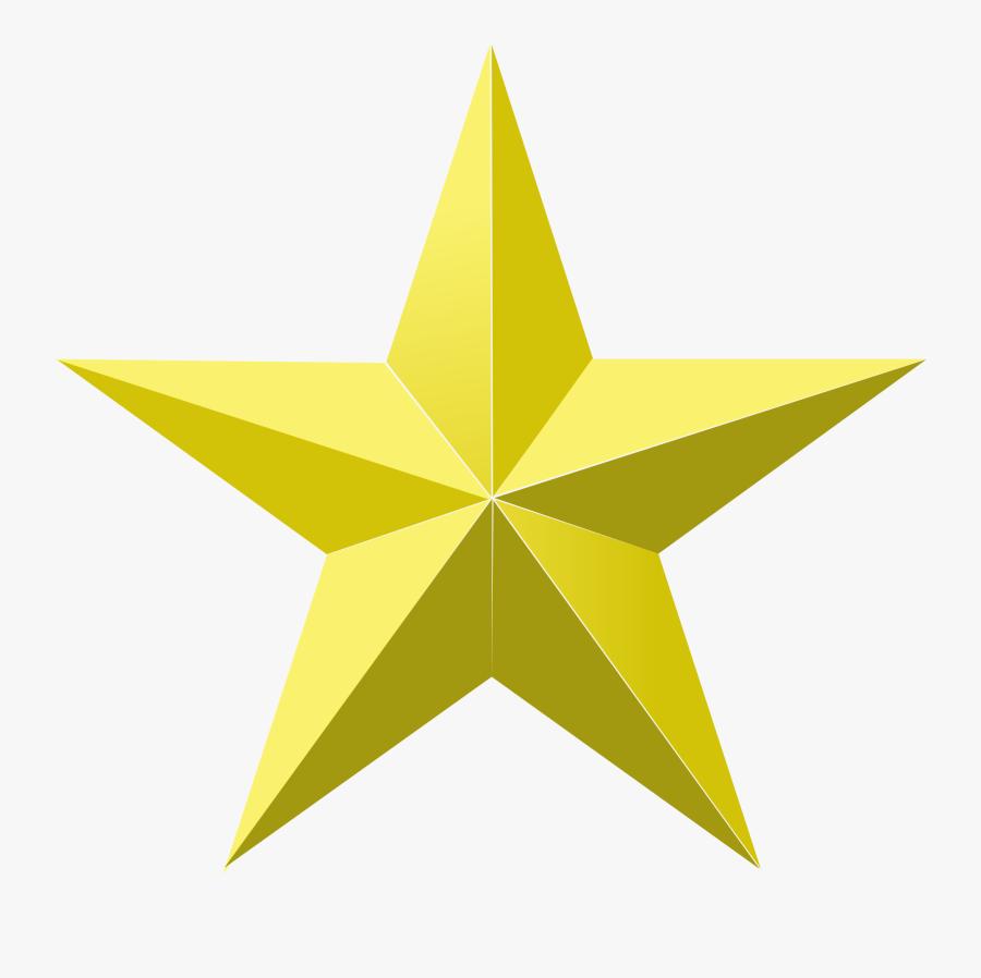 Gold Transparent Background Star Png, Transparent Clipart
