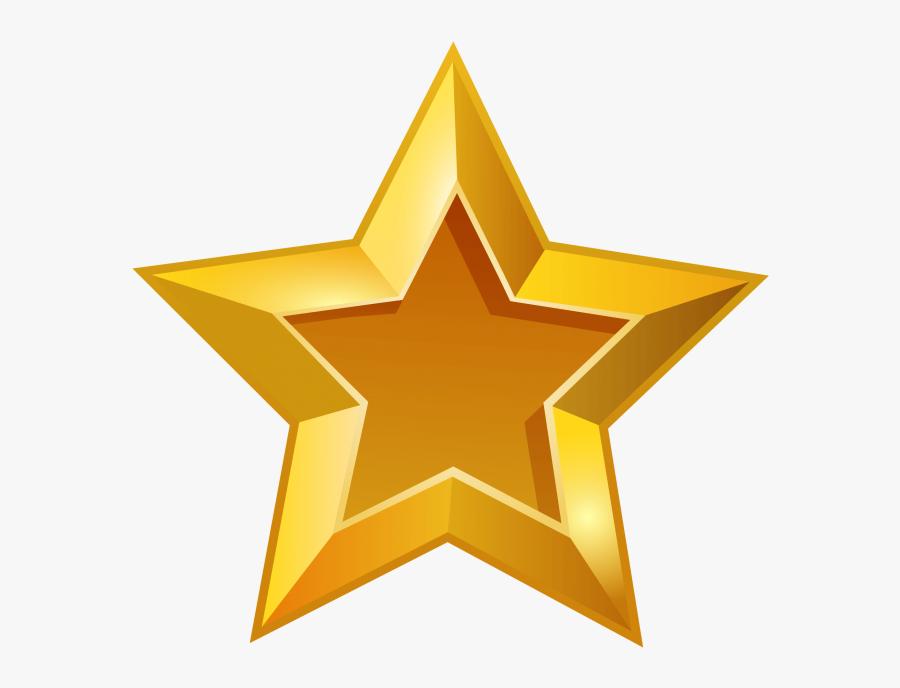 Transparent Glowing Star Clipart - Transparent Background Gold Star Clipart, Transparent Clipart