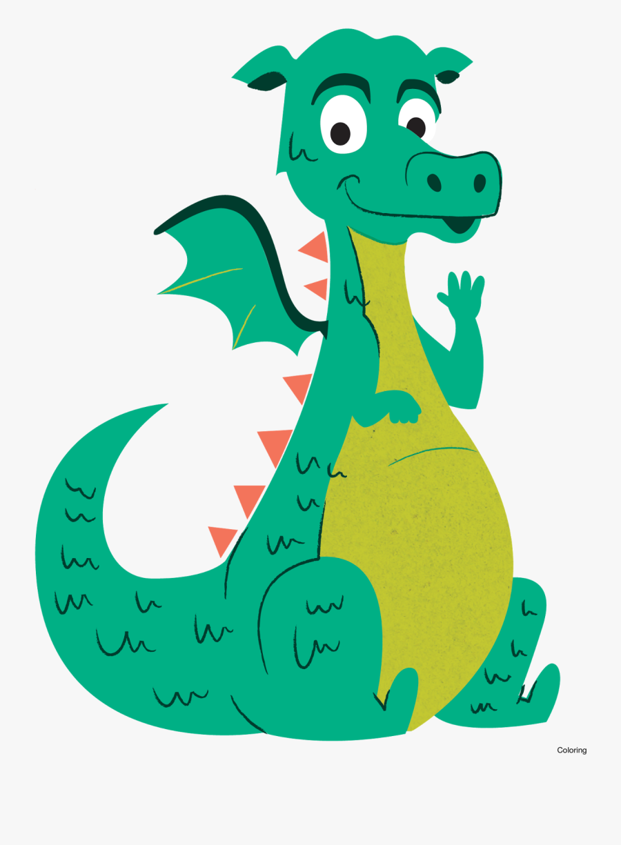 Clipart Reading Dragon - Dragons For Kids, Transparent Clipart