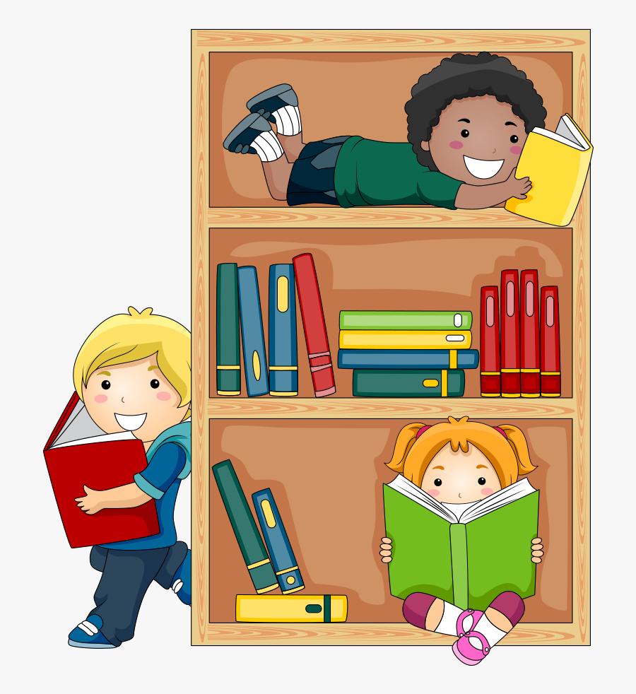 Student Reading Public Library Child Free Transparent, Transparent Clipart
