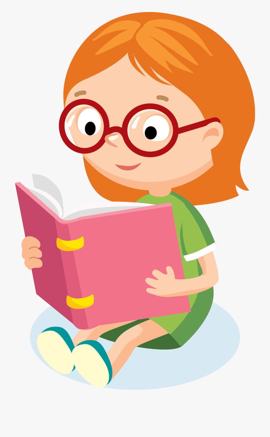 Pooja Arya Aug - Kid Reading Clipart Png, Transparent Clipart