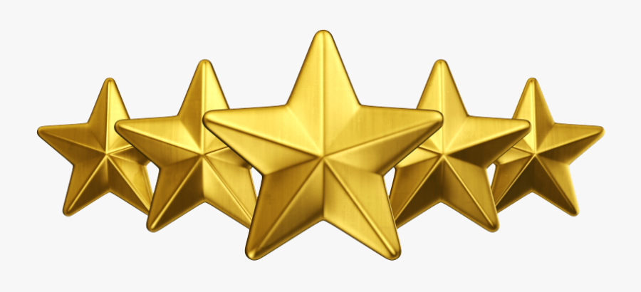 Download 3d Gold Star Png Free Download - 5 Star Gold, Transparent Clipart