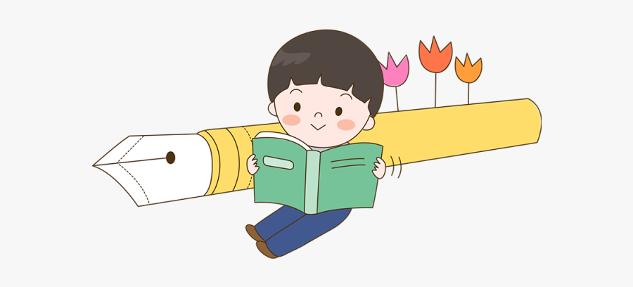Baby Reading Book Clipart - เด็ก อ่าน หนังสือ การ์ตูน, Transparent Clipart