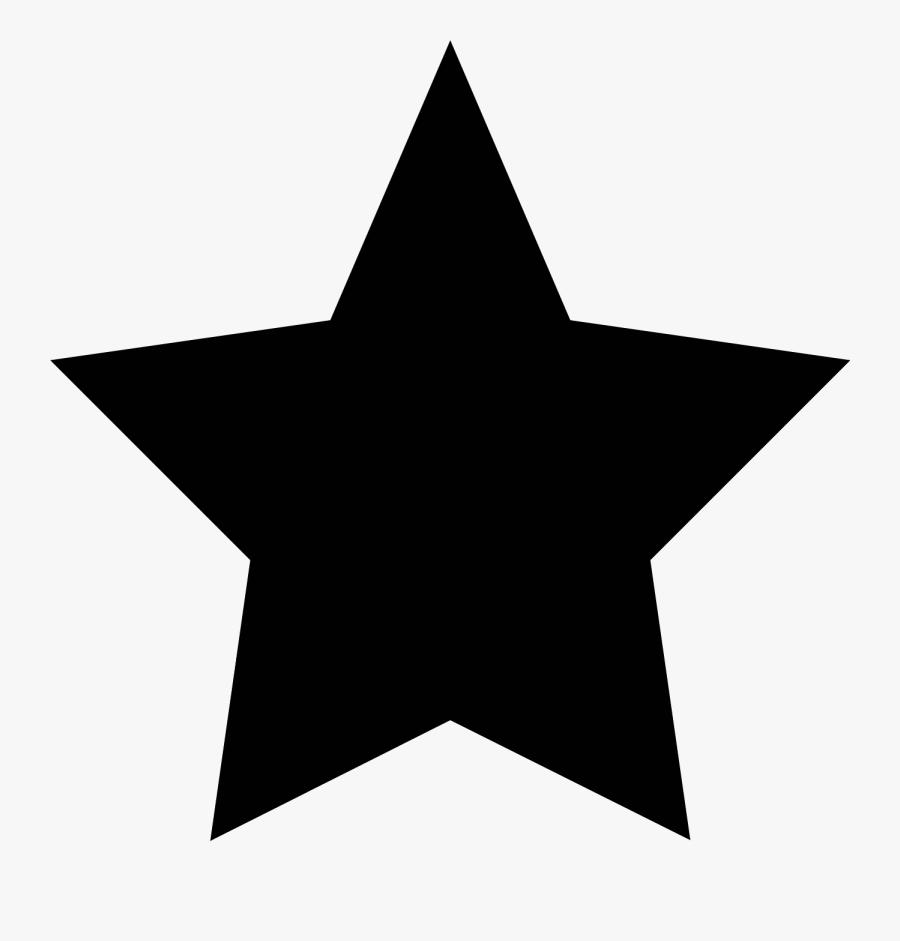 Black Star Clip Art - Transparent Background Star Png, Transparent Clipart