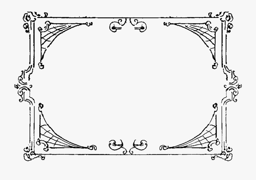 Craft Supply Frame Border Clipart Decorative Scrapbooking - Rectangle Frame Clipart Black And White, Transparent Clipart