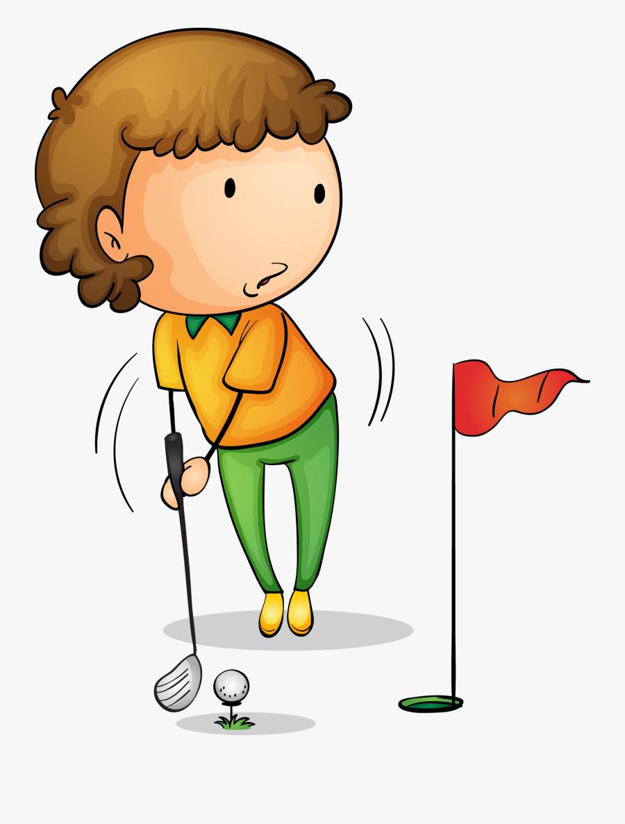 Golf Royalty Free Hole In One Clip Boy Golf Cartoon Clipart Hole In One Free Transparent Clipart Clipartkey