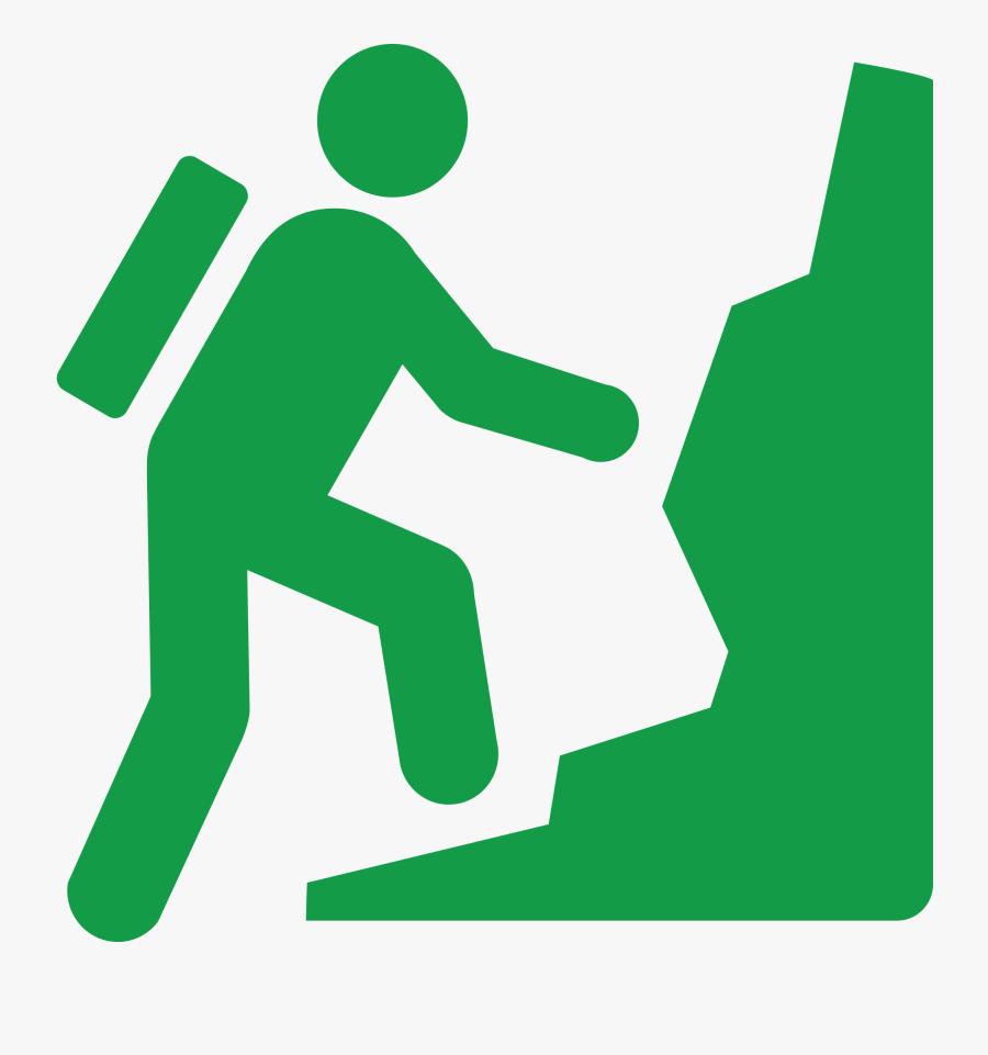 Rock Climbing Climber Tile Coaster Clipart , Png Download, Transparent Clipart