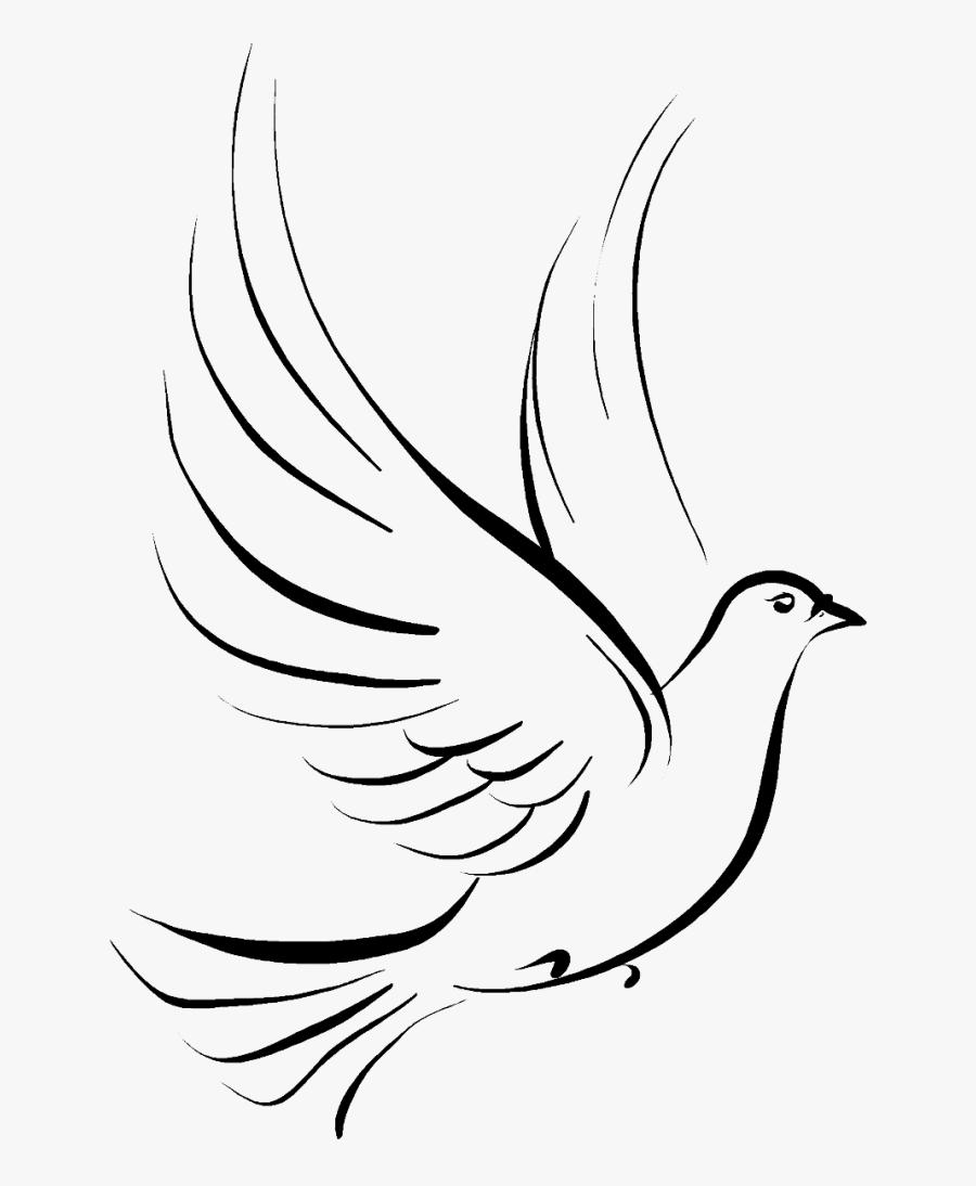 Columbidae Funeral Symbols As Drawing Doves - Dove Bird Tattoo Design, Transparent Clipart