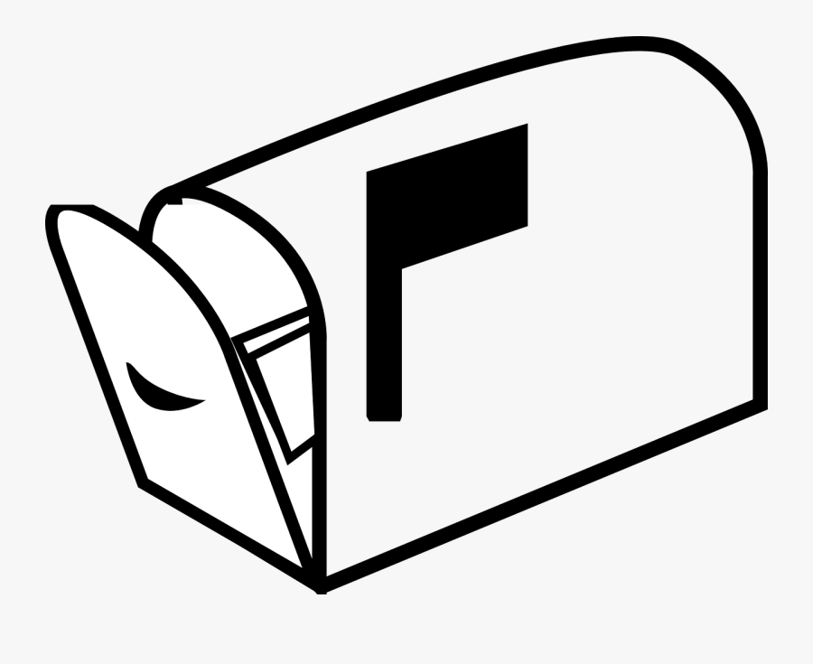 Mailbox 3 Icon - Mailbox Clipart Black And White, Transparent Clipart