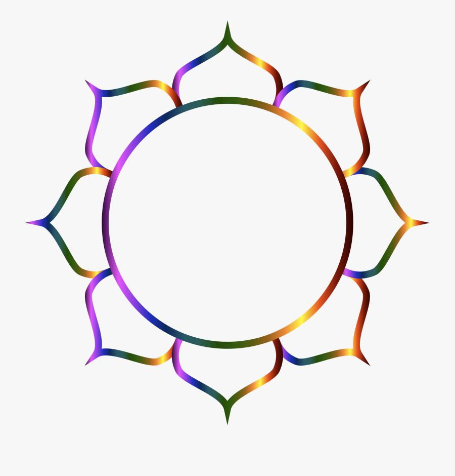 Prismatic Lotus Flower Line Art Clip Arts - Transparent Background Om Symbol Png, Transparent Clipart