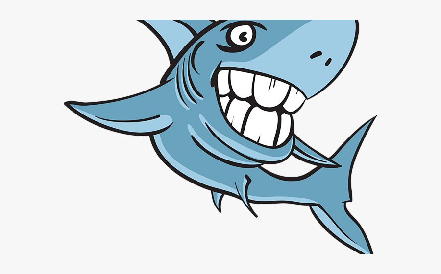 Great White Shark Clipart Scribblenauts Unlimited - Shark With Human Teeth Drawing, Transparent Clipart