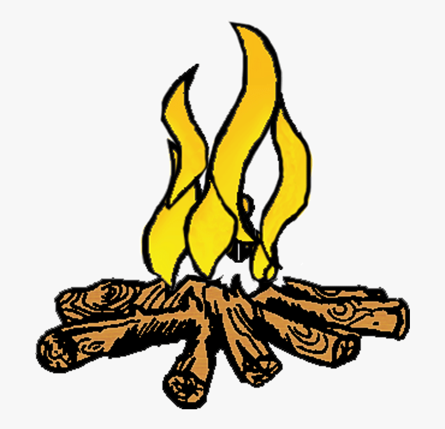 Bonfire Night Clip Art Ca024 - Burning Wood Black And White, Transparent Clipart