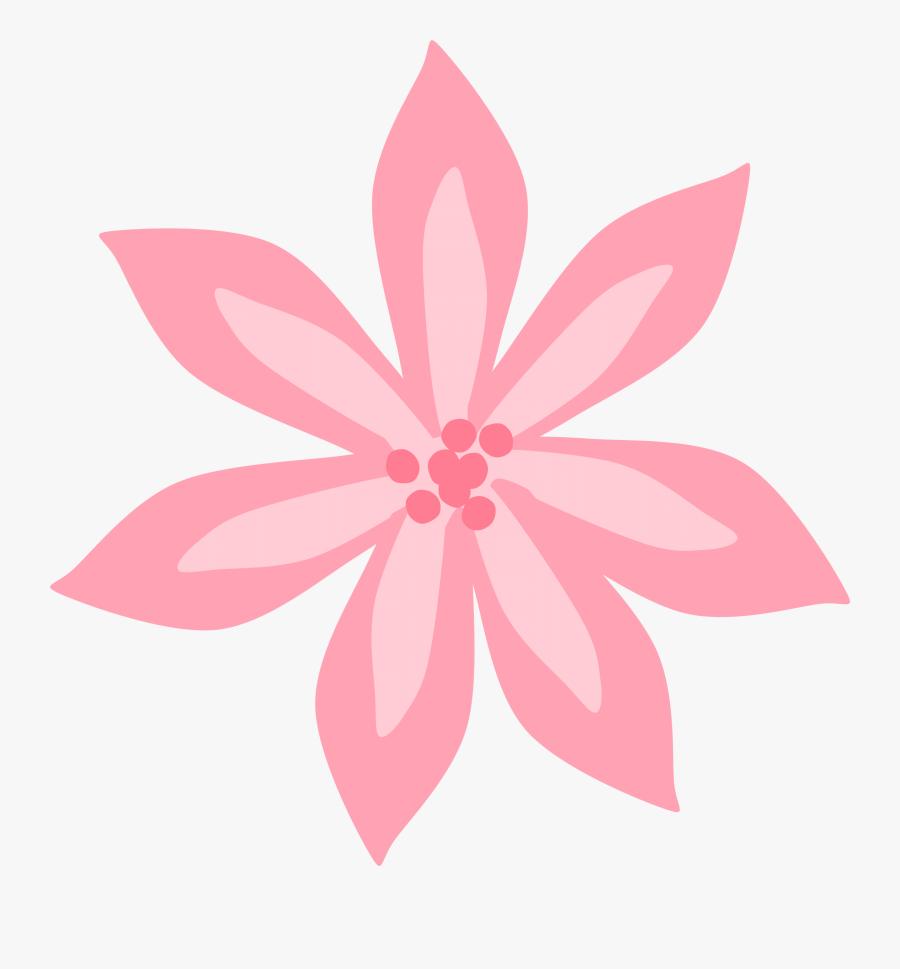 Pink Lily Flower Cartoon, Transparent Clipart
