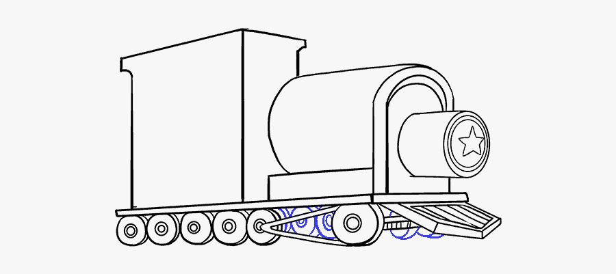 How To Draw A Train In A Few Easy Steps - Kids Easy Train Drawings, Transparent Clipart