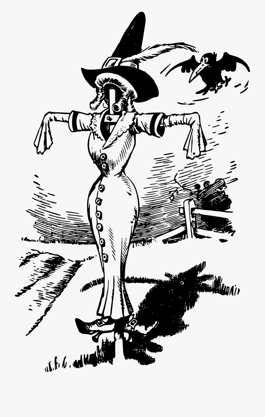 Scarecrow Lady Clip Arts - Sad Scarecrow Clip Art Black ...