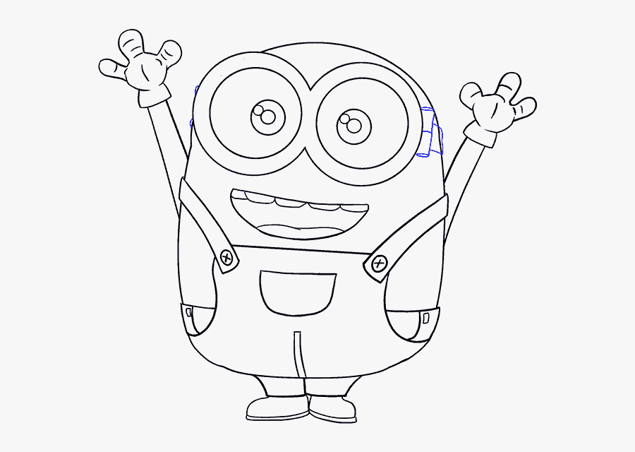 How To Draw Minions Easy Step - Bob The Minion Drawing Easy, Transparent Clipart