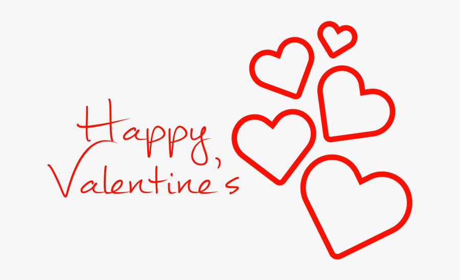 "Happy Valentine""s Hearts Falling - Transparent Background Happy Valentines Day Png, Transparent Clipart"