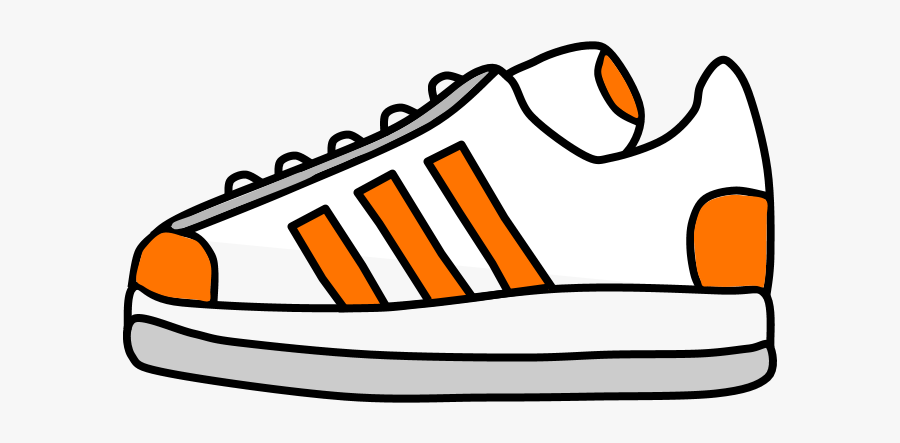 Sneakers, Tennis Shoes, Orange Stripes - Tennis Shoe Clipart Black And White, Transparent Clipart