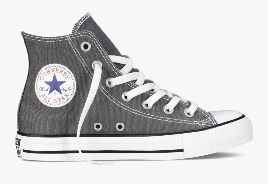 Sneakers Clip Art Street - High Top Grey Converse Womens, Transparent Clipart