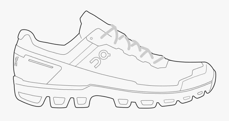 Running Shoes Drawing, Transparent Clipart