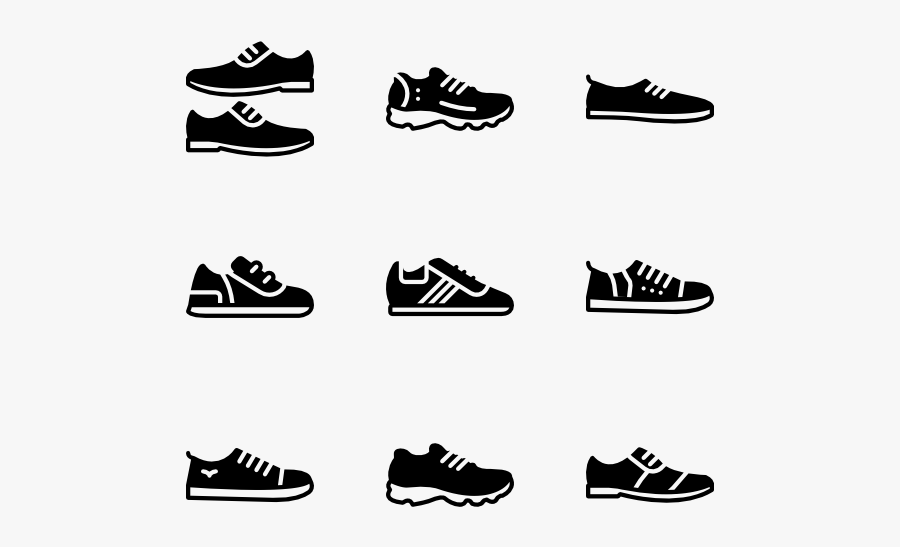 Footwear,shoe,font,black And White,outdoor Shoe,walking - Men Shoes Icon Png, Transparent Clipart