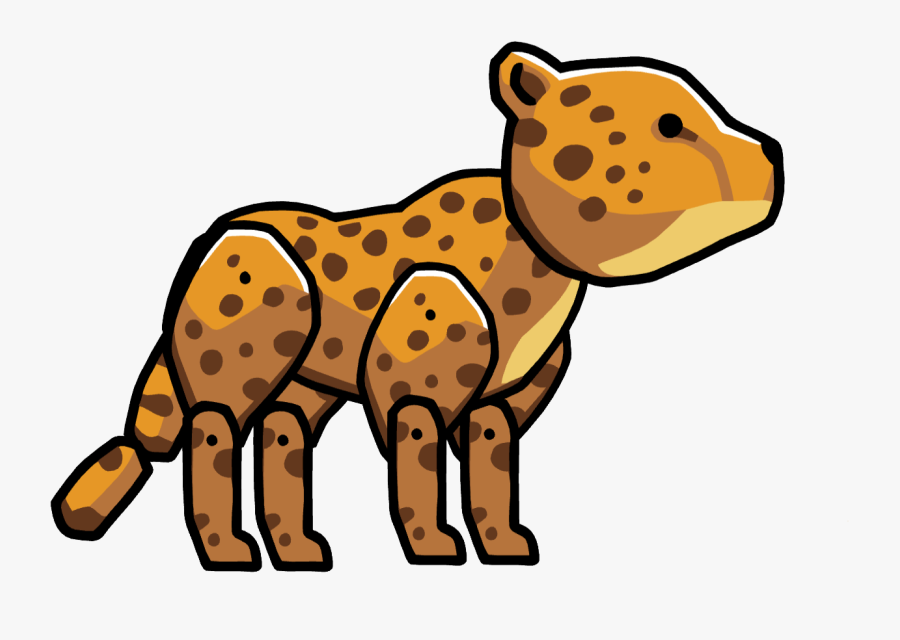 Cheetah - Scribblenauts Leopard, Transparent Clipart