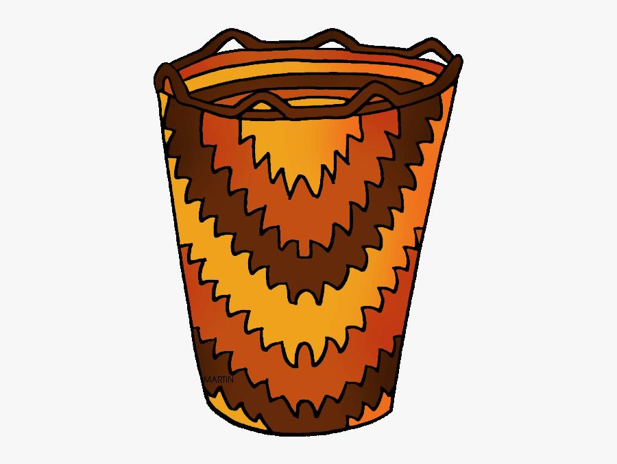 Pacific Northwest Basket - Native American Baskets Clipart, Transparent Clipart