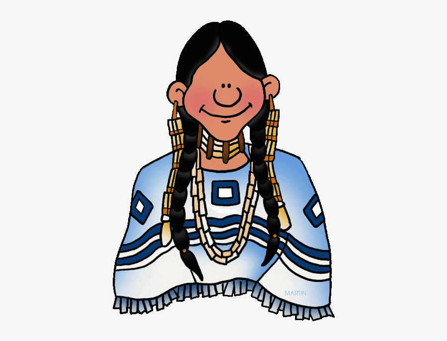 Sioux Woman - Southwest Native American People, Transparent Clipart