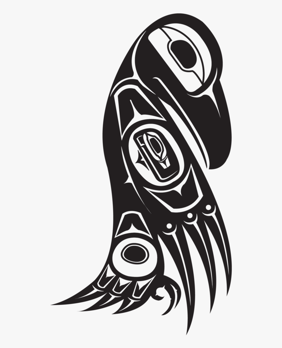Northwest Nativeam Raven By Thescallywag - Native American Animal Designs, Transparent Clipart