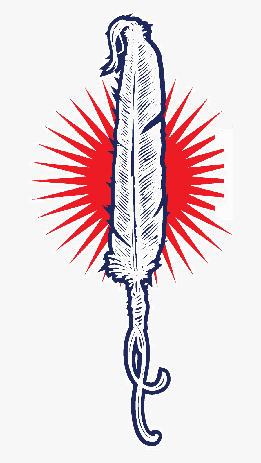 National Indian Law Library Feather Logo - Native American Logo, Transparent Clipart