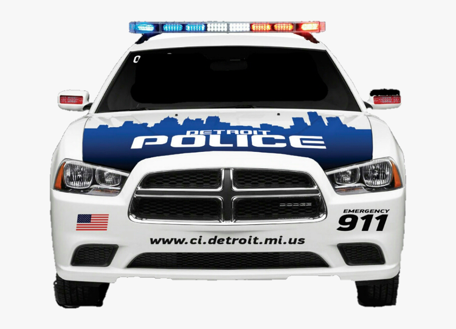 Popo Police Copcar Car Sheriff Criminal Justice Car - Police Car From Front, Transparent Clipart