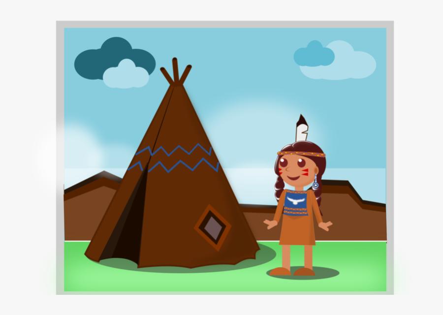 Native American Setting Design Web Flat Kid App Game - Illustration, Transparent Clipart