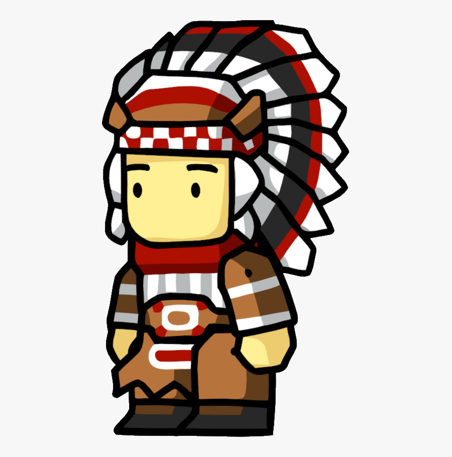 Chief Male - Scribblenauts Indian, Transparent Clipart